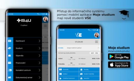 InSIS je dostupný přes mobilní aplikaci Moje studium